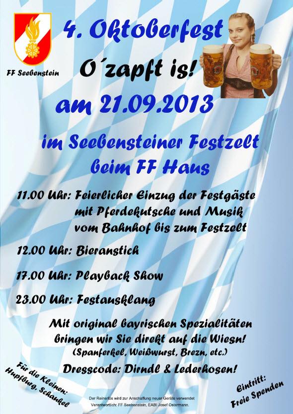 Oktoberfest der FF Seebenstein